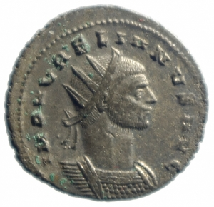 obverse: Impero Romano.Aureliano AE Antoniniano .Cyzicus a 272-274 d.C. D\IMP AVRELIANVS AVG, busto radiato a destra R/ RESTITVT ORIENTIS, donna inginocchiata a sinistra aiutata da Aureliano con lancia, in esergo C stella R. RIC 351, Cohen 204; Sear 11596.Peso 4,20 gr.Diametro 23,00 mm.BB+\SPL.R