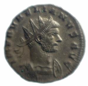 obverse: Impero Romano. Aureliano. 270-275 d.C. Antoniniano. D/ IMP AVRELIANVS AVG Busto radiato verso destra. R/ PAX AVGVSTI La pax andante verso sinistra. Peso 3,45 gr. Diametro 22,5 mm. BB\qSPL.