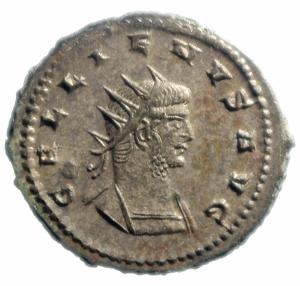 obverse: Impero Romano. Gallieno. 253-268 d.C. Antoniniano. AE. 267 d.C. Antiochia. D\ GALLIENVS AVG, Testa radiata a destra. R/ LVNA LVCIF, la Luna cammina a destra. RIC 609A. Asian Mint; Goebl 1665i; Sear 10284. Peso 4,10 gr. Diametro 22,00 mm.SPL+. Argentatura Completa. R.