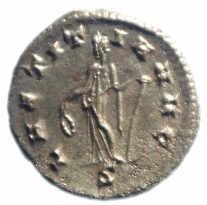 reverse: Impero Romano. Gallieno. 253-268 d.C. Antoniniano. Ae. D/ GALLIENVS AVG. R/ LAETITIA AVG la Letizia verso sinistra con corona. RIC.489. Peso 4,05 gr. Diametro 22,00 mm. SPL