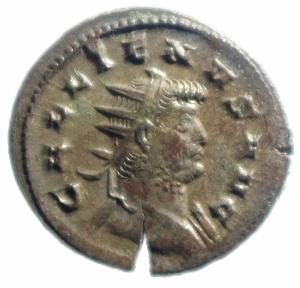obverse: Impero Romano. Gallieno. 253-268 d.C. Antoniniano. Ae. D/ GALLIENVS AVG.Testa radiata a destra. R/ LAETITIA AVG la Letizia verso sinistra con corona. RIC.489. Peso 4,05 gr. Diametro 22,00 mm. BB+.