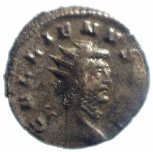 obverse: Impero Romano. Gallieno. 260-268 d.C. Antoniniano. Ar. Mediolanum. D\ Testa radiata a destra. R/ ORIENS AVG Sole stante a sinistra con globo. RIC V. Peso 2,15 gr. Diametro 21,00 mm. qSPL.