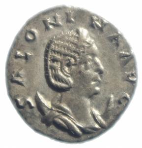 obverse: Impero Romano. Salonina. 253-268 d.C. Antoniniano. Ag. D/ SALONINA AVG Busto verso destra. R/ IVNO REGINA Giunone con scettro e patera. Peso 3,55 gr. Diametro 21,00 mm.SPL.