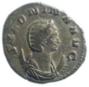 obverse: Impero Romano. Salonina. 253-268 d.C. Antoniniano. Ag. D/ SALONINA AVG Busto verso destra. R/ IVNO REGINA Giunone con scettro e patera. Peso 4,10 gr. Diametro 22,00 mm.BB.