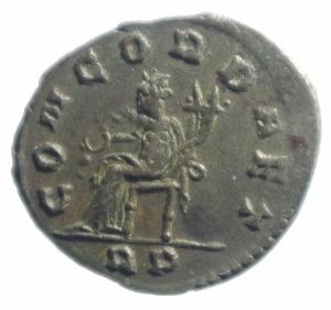 reverse: Impero Romano. Salonina. 253-268 d.C. Antoniniano. Ag. D/ SALONINA AVG Busto verso destra. R/ IVNO REGINA Giunone con scettro e patera. Peso 4,10 gr. Diametro 22,00 mm.BB.