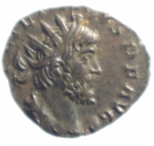 obverse: Impero Romano. Tetrico I. 270-273 d.C. Antoniniano. AE. D/ IMP TETRICVS PF AVG. Busto radiato a destra. R/ PAX AVG. la pace con ramoscello. Peso gr. 1,57. Diametro 17,00 mm. SPL+\BB+