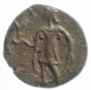 reverse: Impero Romano. Tetrico II. 270-273 d.C. Antoniniano. AE. D/ C PIV ESV TETRICVS CAES, Busto radiato verso destra. R / SPES AVGG, Spes cammina verso sinistra con fiore. RIC 270. Cohen 87. Sear5 11292. Peso 1,65 gr. Diametro 15,15 mm.qSPL.