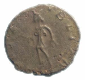 reverse: Impero Romano. Tetrico II. 270-273 d.C. Antoniniano. AE. D/ C PIV ESV TETRICVS CAES, Busto radiato verso destra. R / SPES AVGG, Spes cammina verso sinistra con fiore. RIC 270. Cohen 87. Sear5 11292. Peso 3,60 gr. Diametro 19,15 mm.SPL\qBB.