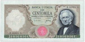 obverse: Manzoni 100.000 Decreto 03/07/1967