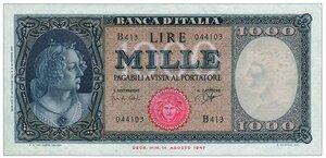 obverse: 1000 Lire Medusa Decreto 25/09/1961