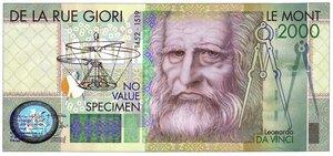 obverse: Specimen del 2.000 Lire