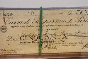obverse: CASSA DI RISP. di PISA - Lotto di 20