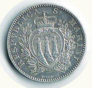 reverse: SAN MARINO - Vecchia monetazione - 2 Lire 1906