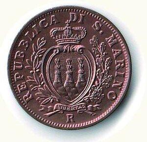 reverse: SAN MARINO - 10 Centesimi 1937