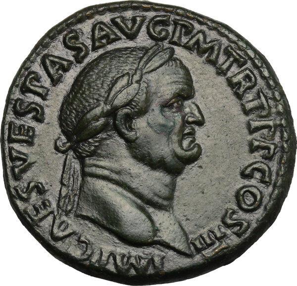 A Wondeful Sestertius of Vespasian