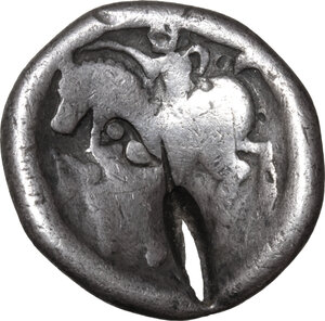 reverse: Celtic, Eastern Europe. AR Tetradrachm, imitating Philip II, 2nd century BC