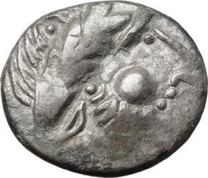 obverse: Celtic, Eastern Europe. AR Tetradrachm, Type \Kugelwange\