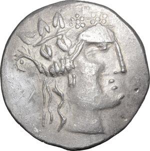 obverse: Celtic, Eastern Europe. AR Tetradrachm, imitating Thasos, 1st century BC
