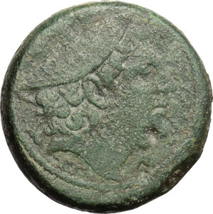 obverse: Anonymous.. AE Sextans, 217-215 BC