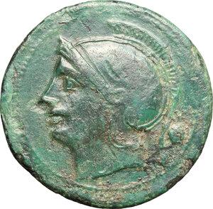 obverse: Semilibral standard.. AE Uncia, 217-215 BC