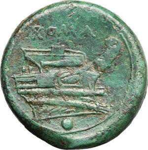 reverse: Semilibral standard.. AE Uncia, 217-215 BC