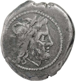 obverse: Anonymous issue.. AR Victoriatus, after 211 BC