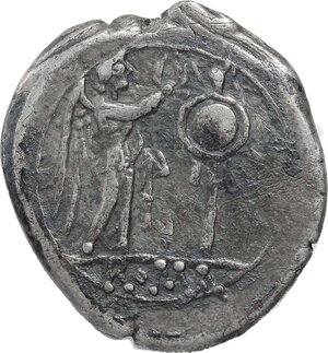 reverse: Anonymous issue.. AR Victoriatus, after 211 BC