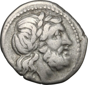 obverse: VB series.. AR Victoriatus, 211-208 BC