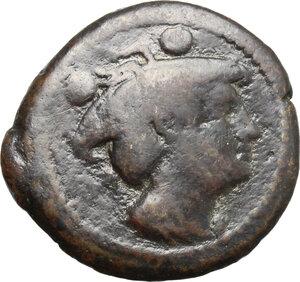 obverse: CA series.. AE Sextans, 209-208 BC