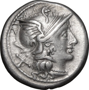 obverse: Anonymous issue.. AR Denarius, 157-156 BC