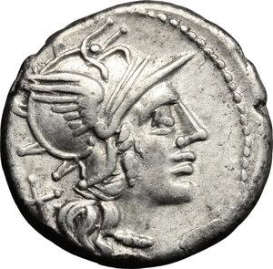 obverse: Anonymous.. AR Denarius, 143 BC