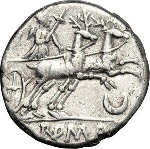 reverse: Anonymous.. AR Denarius, 143 BC