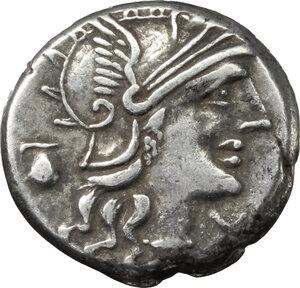 obverse: Sex. Pompeius Fostlus. . AR Denarius, 137 BC