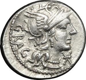 obverse: L. Antestius Gragulus.. AR Denarius, 136 BC