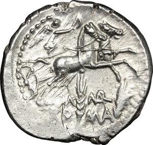reverse: M. Marcius Mn. f. . AR Denarius, 134 BC