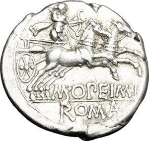 reverse: M. Opimius.. AR Denarius, 131 BC