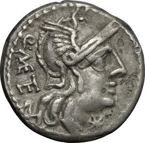 obverse: Q. Caecilius Metellus.. AR Denarius, 130 BC