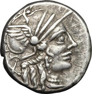 obverse: C. Plutius.. AR Denarius, 121 BC