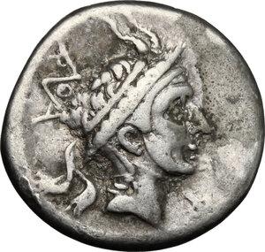 obverse: Q. Marcius Philippus.. AR Denarius, 113-112 BC
