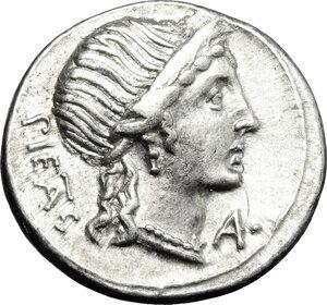 obverse: M. Herennius.. AR Denarius, 108-107 BC