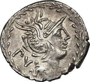 obverse: M. Lucilius Rufus. . AR Denarius, 101 BC