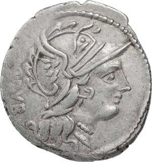 obverse: L. Sentius C.f.. AR Denarius, 101 BC