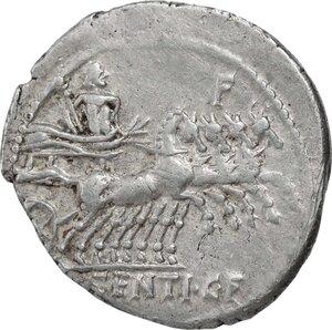 reverse: L. Sentius C.f.. AR Denarius, 101 BC