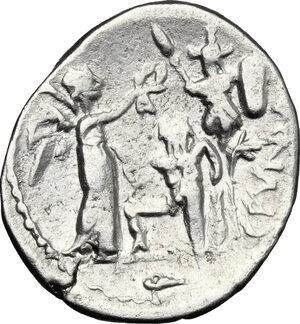 reverse: C. Fundanius. . AR Quinarius, 101 BC