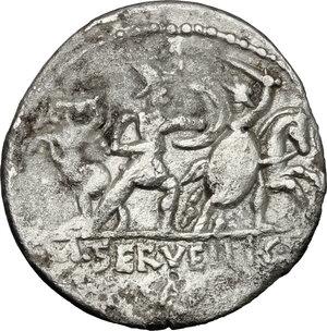 reverse: M. Servilius C.f. . Fourrée Denarius, 100 BC