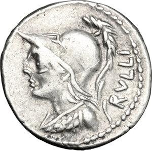 obverse: P. Servilius Rullus.. AR Denarius, 100 BC