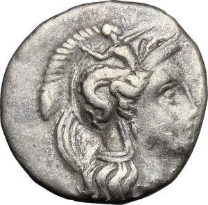 obverse: Southern Apulia, Tarentum. AR Diobol, c. 340 BC