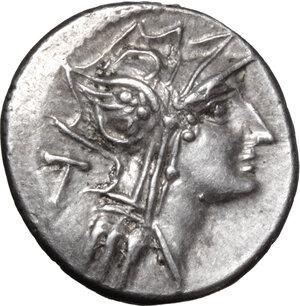 obverse: D. Junius Silanus L. f.. AR Denarius, 91 BC