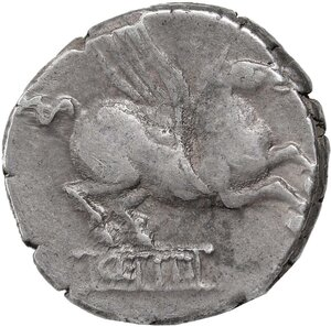 reverse: Q. Titius.. AR Denarius, 90 BC