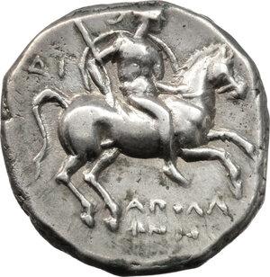 obverse: Southern Apulia, Tarentum. AR Nomos, circa 272-240 BC